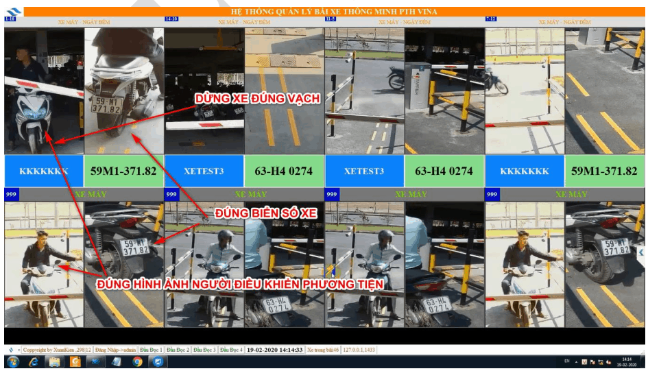 Giao diện phần mềm quản lý xe thông minh