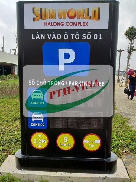 bảng led báo hiệu số lượt xe đặt ngoài trời