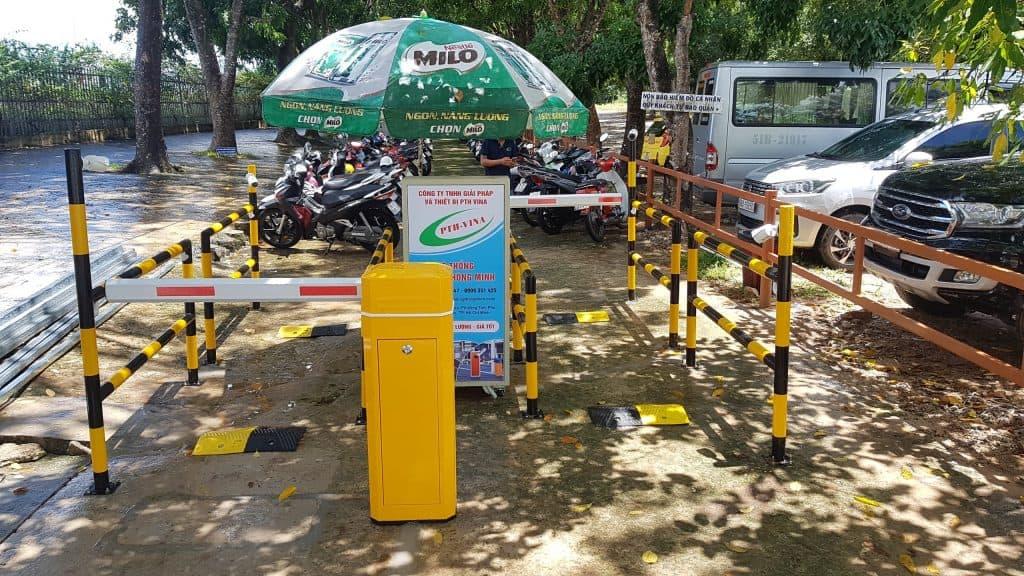 Máy giữ xe khu du lịch Sunset Sanato Phú Quốc do HTGXTM PTH lắp đặt