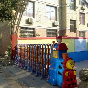 Hình ảnh: cổng xếp chạy điện PT-07