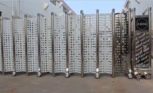 Hình ảnh: Cửa cổng xếp inox PT-08