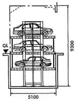 Bãi đỗ xe ô tô tự động cao tầng3 hoặc 6 xethiết kế ngầm dưới mặtđất