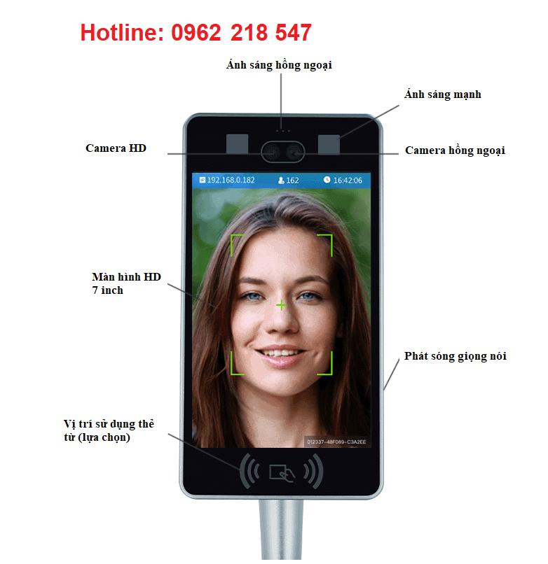 Máy chấm công nhận diện khuôn mặt YH-07